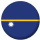 Nauru Country Flag 25mm Flat Back
